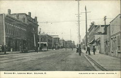 Second Street Looking West Postcard