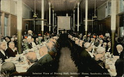 Interior View of Dining Hall, Soldiers Home