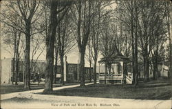 Park and West Main Street Postcard