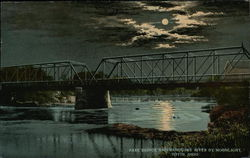 Park Bridge and Sandusky River by Moonlight