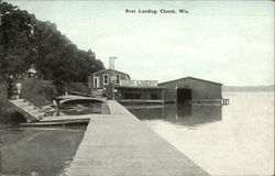 Boat Landing and Livery Postcard