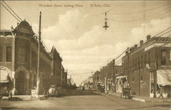 Woodson Street Looking West Postcard