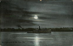 Moonlight on the St. Clair River