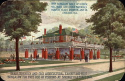 Sears, Roebuck and Co's agricultural exhibit and rest bungalow