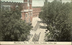 Marching to Mess, Culver Military Academy