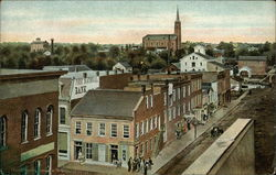 Huntington, Indiana in 1870 Postcard