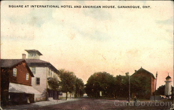 Square at International Hotel and American House Gananoque Canada