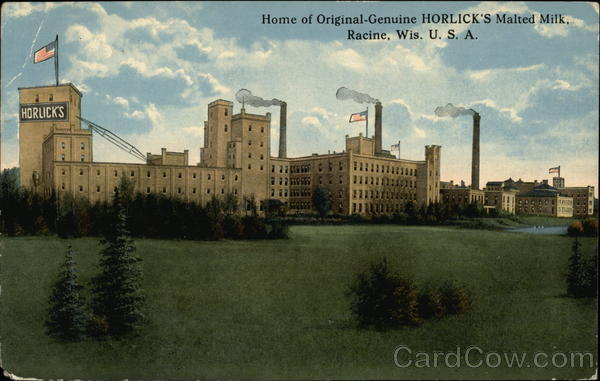 Horlick's Malted Milk Plant Racine Wisconsin Advertising