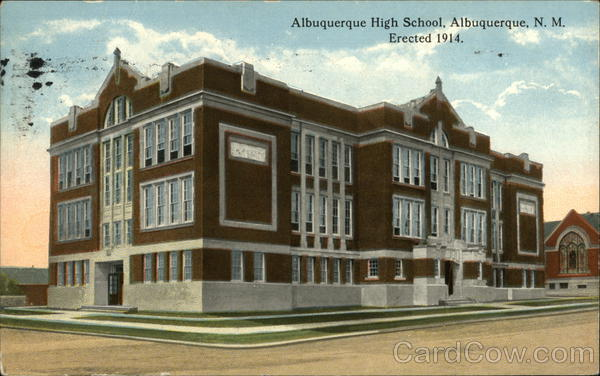 Albuquerque High School, Erected 1914 New Mexico