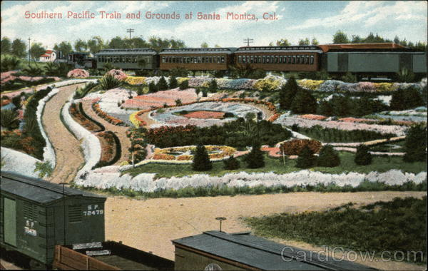 Southern Pacific Train and Grounds Santa Monica California