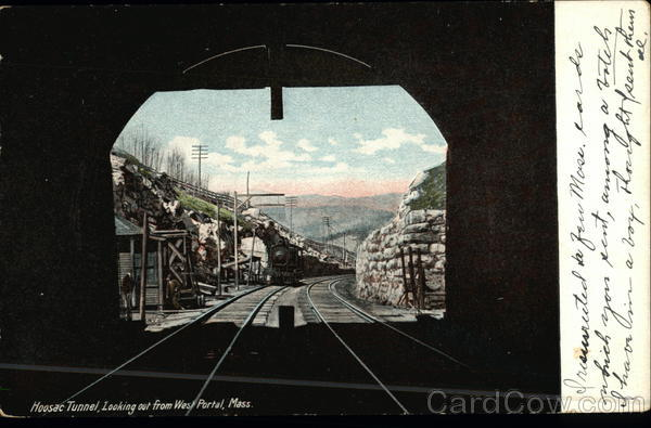 Hoosac Tunnel Looking From West Portal, Mass. North Adams Massachusetts