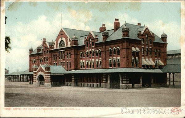 Boston and Maine R.R. Passenger Station Concord New Hampshire