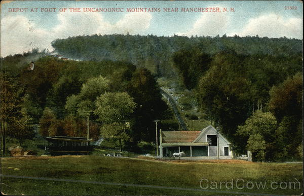 Depot at Foot of the Uncanoonuc Mountains Manchester New Hampshire