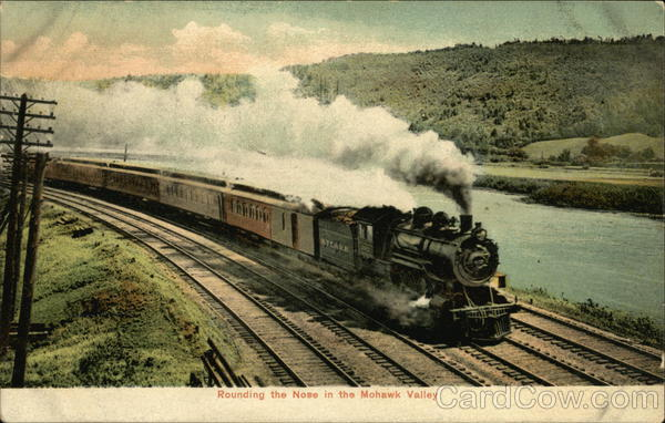 Rounding the Nose in the Mohawk Valley New York Railroad (Scenic)