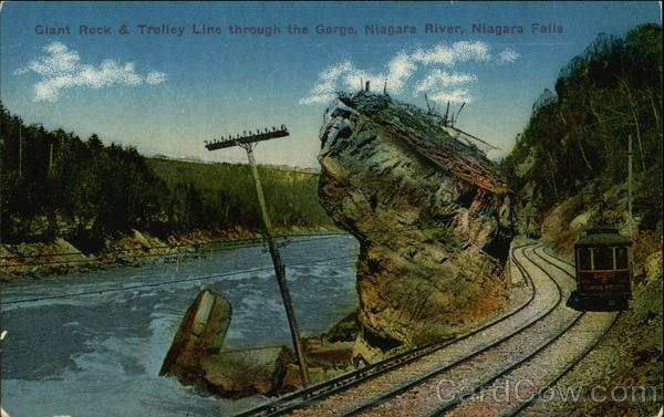 Giant Rock and Trolly Line Niagara Falls New York