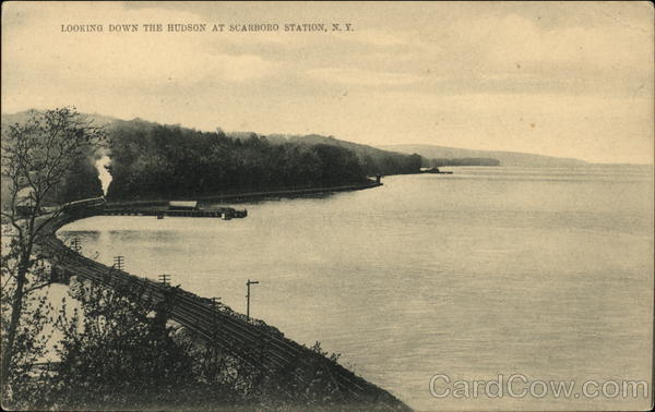 Looking Down the Hudson at Scarboro Station, N.Y. Scarborough New York