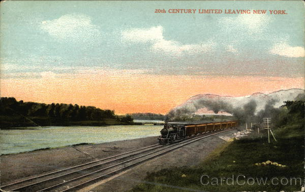 20th Century Limited Leaving New York Locomotives