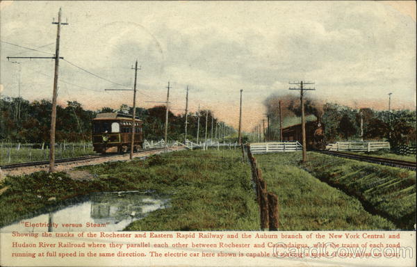 Electricity versus Steam - Rochester & Eastern Rapid Railway