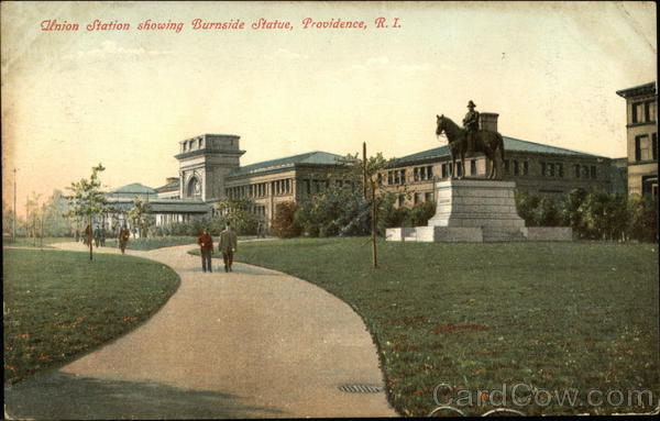 Union Station showing Burnside Statue Providence Rhode Island