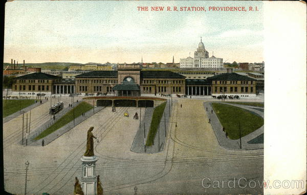 The New R. R. Station Providence Rhode Island