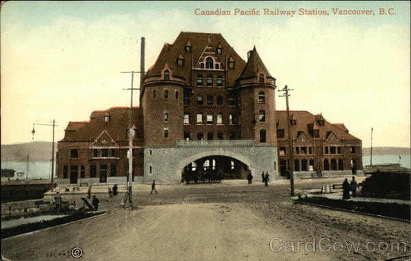 Canadian Pacific Railway Station Vancouver Canada British Columbia