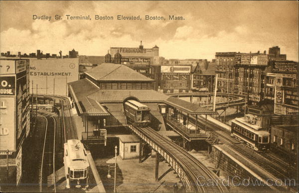 Dudley St. Terminal, Boston Elevated Massachusetts