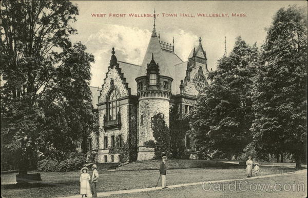 Wellesley Town Hall - West Front Massachusetts