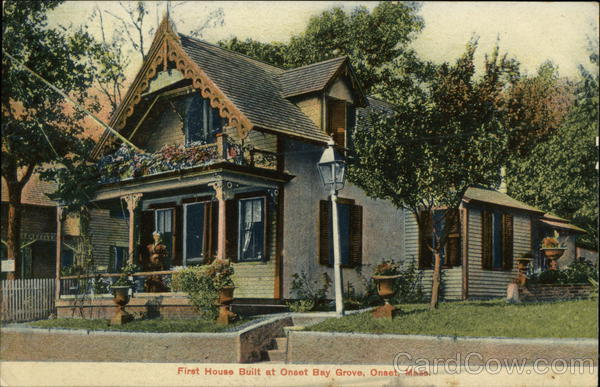 First House Built at Onset Bay Grove Massachusetts