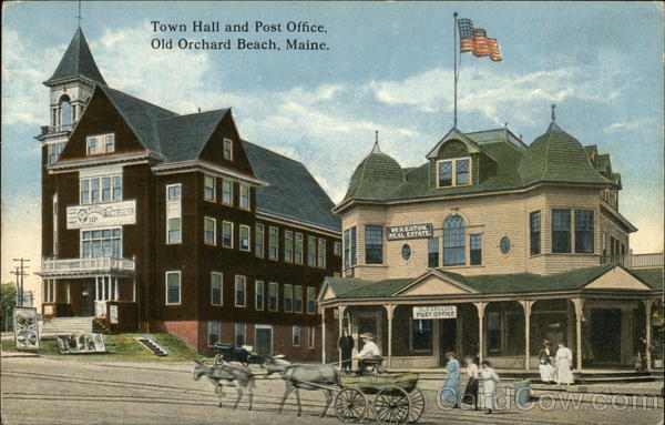 Town Hall and Post Office Old Orchard Beach Maine