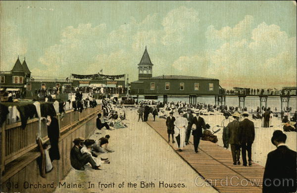 In Front of the Bath Houses Old Orchard Beach Maine