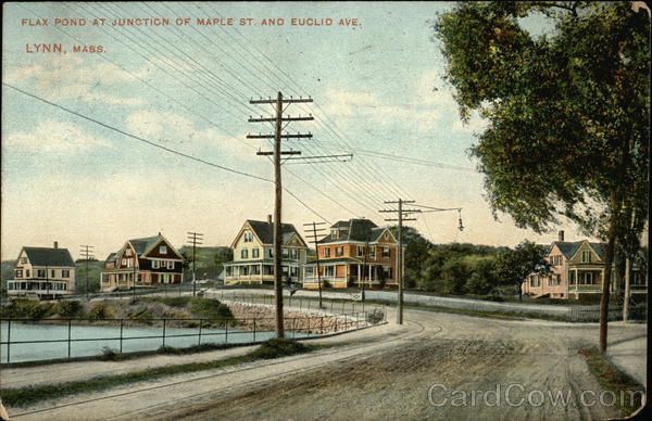 Flax Pond at Junction of Maple Street and Euclid Avenue Lynn Massachusetts