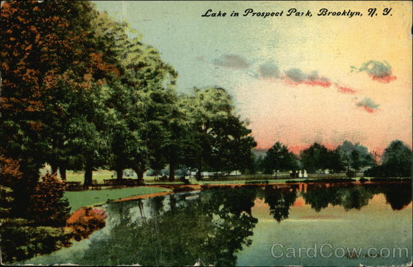 Lake in Prospect Park Brooklyn New York
