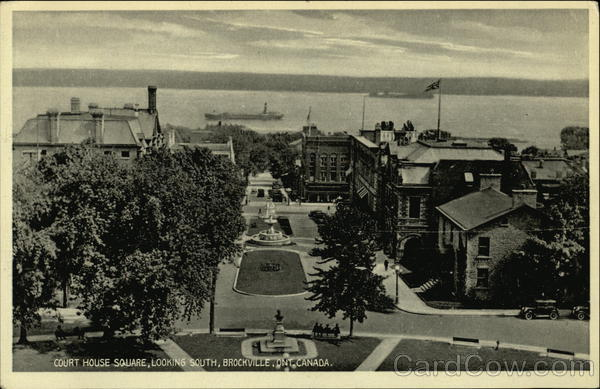 Court House Square Looking South Brockville Canada