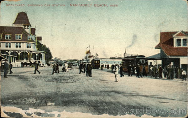 Boulevard showing Car Station Nantasket Beach Massachusetts