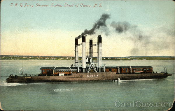 J.C.R. Ferry Steamer Scotia, Strait of Canso Canada