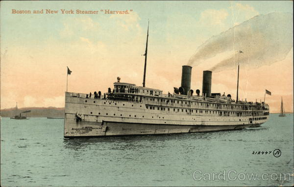 Boston and New York Steamer Harvard Steamers