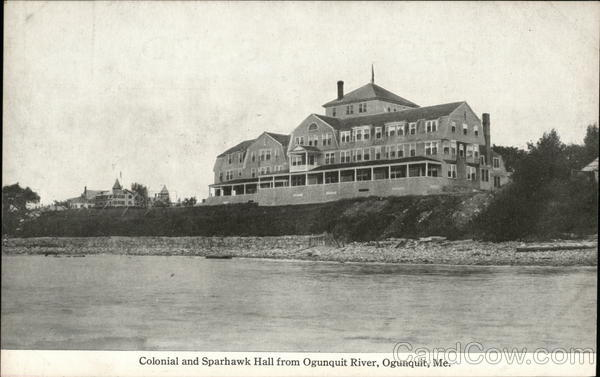 Colonial and Sparhawk Hall from Ogunquit River Maine