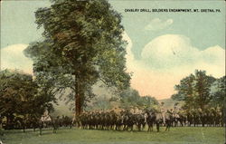 Cavalry Drill, Soldiers Encampment