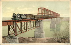 Santa Fe bridge over Missouri River at Sibley, Mo