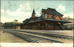 B. & M. Union Passenger Station and Wood's Restaurant