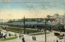 B. & M.R.R. Station showing Old Orchard House