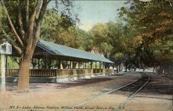 Lake Shore Station, Willow Park, Great Sodus Bay Postcard