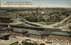 Bird's Eye View of Union Station showing Normal School