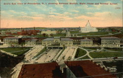 Bird's Eye View of Providence, R.I. Showing Railroad Station, State House and Normal School