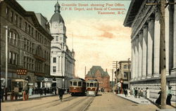 Granville Street, Showing Post Office, C.P.R. Depot, and Bank of Commerce