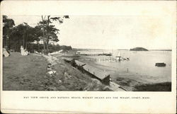 Bay View Grove and Bathing Beach, Wicket Island and the Wharf