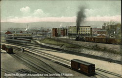 Upper Lackawanna Ave. and Laurel Line R.R. Station