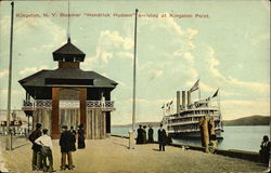 Steamer Hendrick Hudson Arriving at Kingston Point Postcard