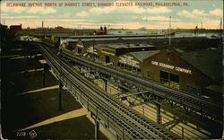 Delaware Avenue North of Market Street and Elevated Railroad