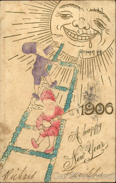1906 A Happy New Year Elves
